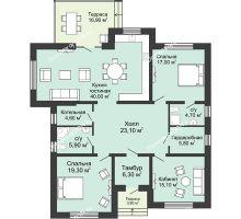 """3 комнатная квартира 162,5 м² в КП Ясная поляна, дом """"Мюнхен"""" 162,5 м² - планировка"""
